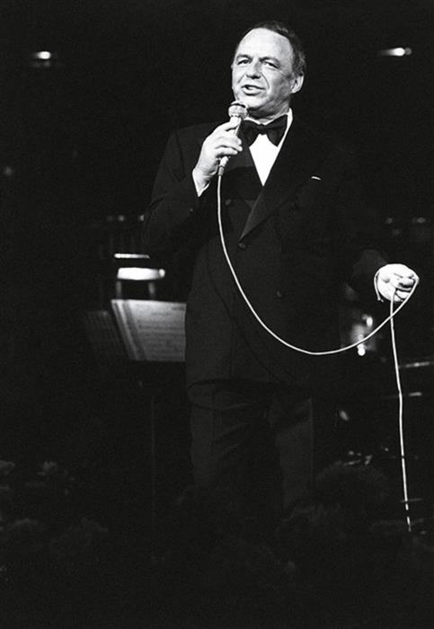 Frank Sinatra at the Royal Festival Hall in London, 1970