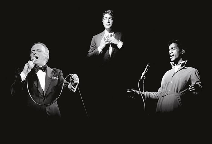 The Rat Pack: Frank Sinatra, Dean Martin and Sammy Davis Jnr