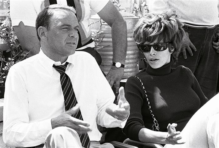 Frank Sinatra by Terry O'neill with Raquel Welch