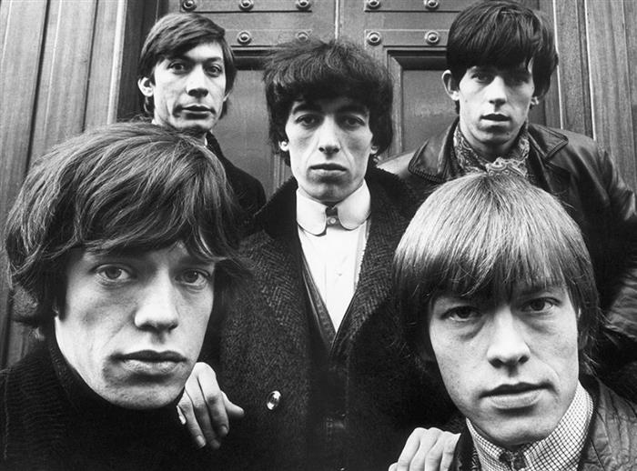 Rolling Stones outside St Georges Church