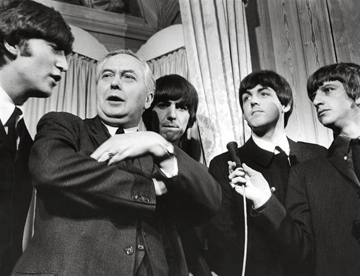 The Beatles with the Prime Minister Harold Wilson 1964