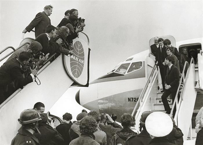 The Beatles at Heathrow Airport 1964