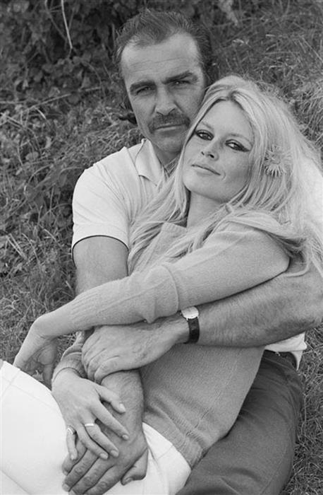Sean Connery and Bridgette Bardot in France