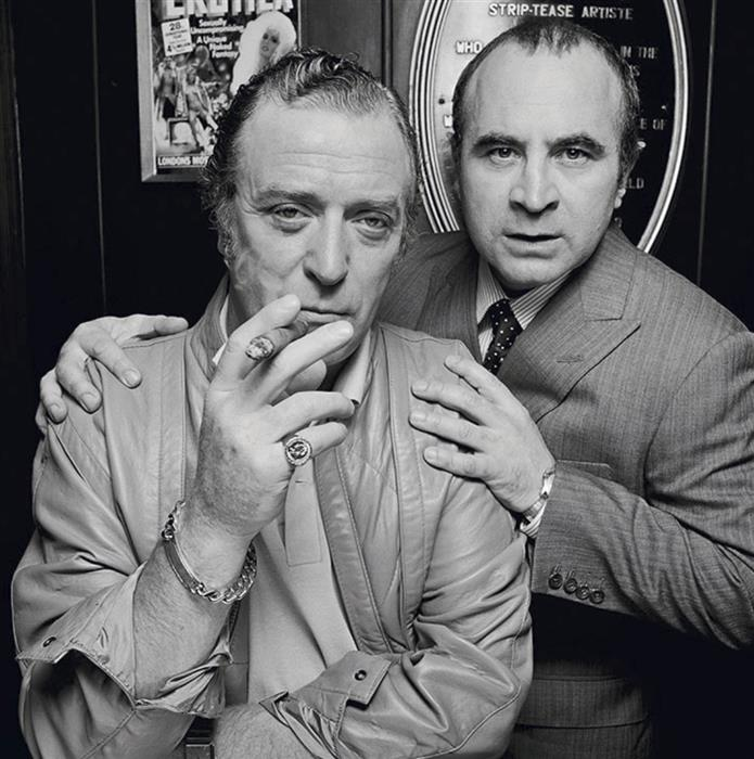 Michael Caine and Bob Hoskins