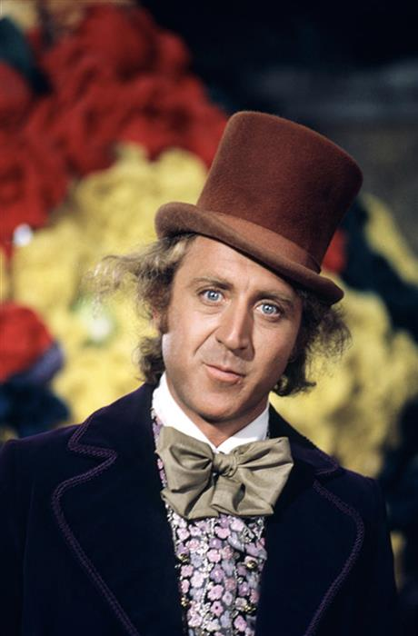 Gene Wilder in his role as Willy Wonka, London 1971