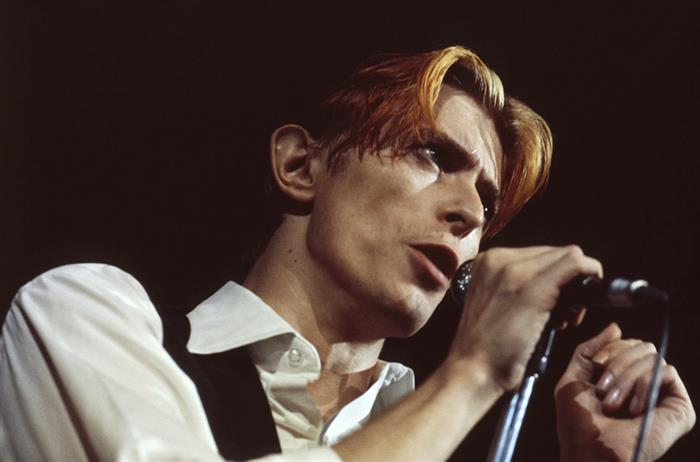 David Bowie during the Diamond Dogs tour, Los Angeles 1974