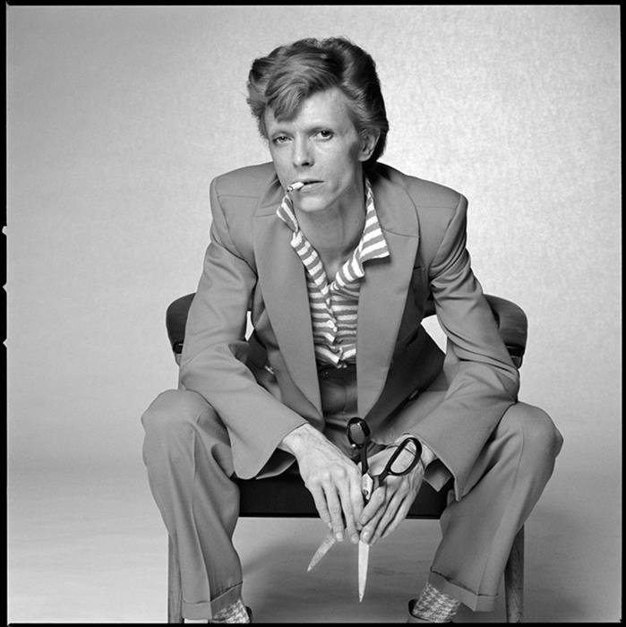 David Bowie, photographed for a magazine in Los Angeles, 1974