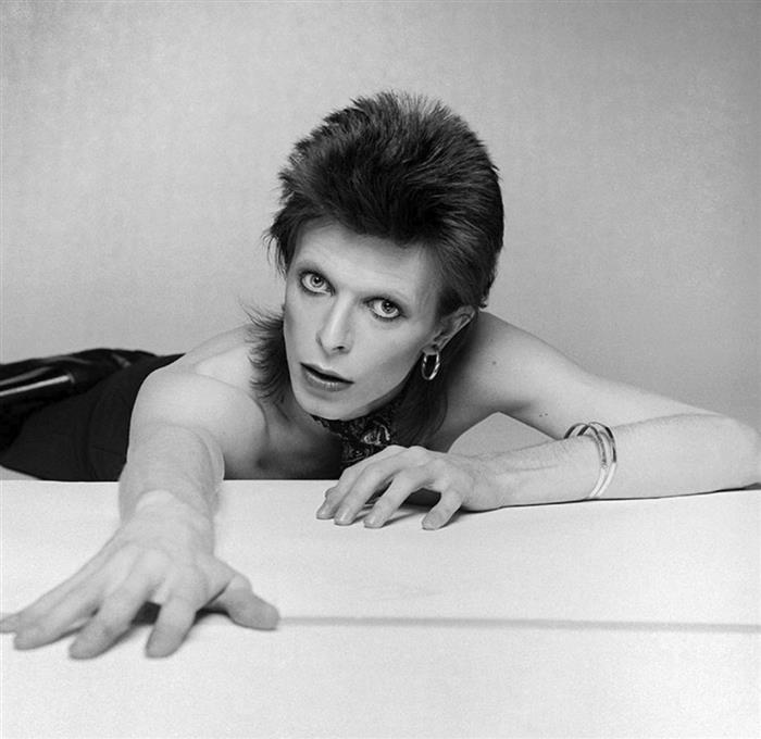 David Bowie photographed for the Diamond Dogs album cover, 1974