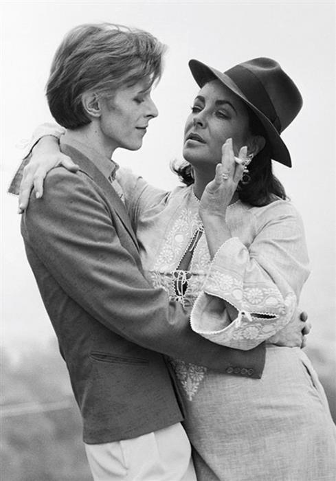 David Bowie and Elizabeth Taylor, Beverly Hills, 1975