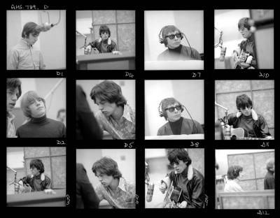 Rolling Stones contact sheet