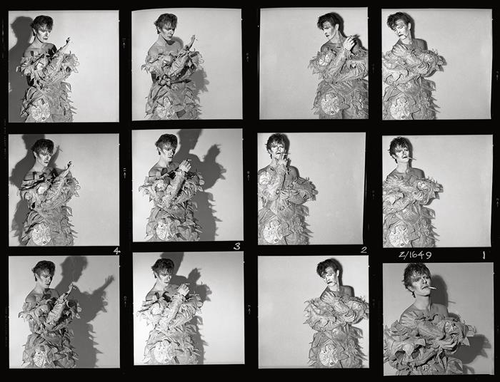 David Bowie,Scary Monster  Contact Sheet ,London 1979