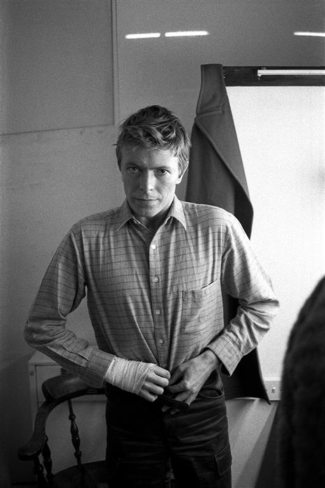 David Bowie,in Lodgers Dressing Room 1979