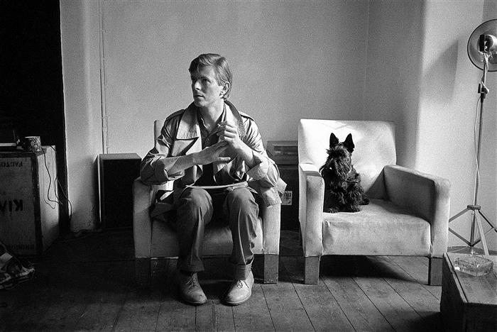 David Bowie,with Scottie The Dog London 1980